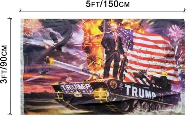 3 x 5 Ft Trump Tank Commander Flag Banner w/ Grommets - EXCELLENT QUALITY