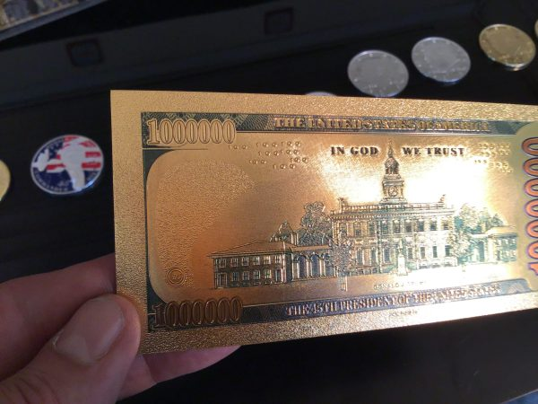 **EXTREMELY RARE!** THE ORIGINAL AUTHENTIC 24K GOLD $1 MILLION TRUMP BANK NOTE w/ Certificate Of Authenticity
