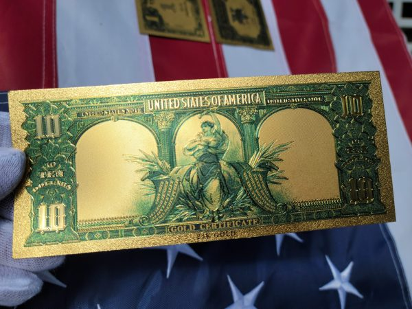 SERIES 1875 DONALD & MELANIA TRUMP NATIONAL CURRENCY 24K GOLD BANKNOTE COLLECTION SET-