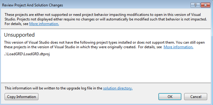 Visual Studio 2012 does not support BI | James Serra\'s Blog