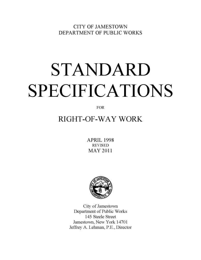 Pages from CITY SPECIFICATIONS