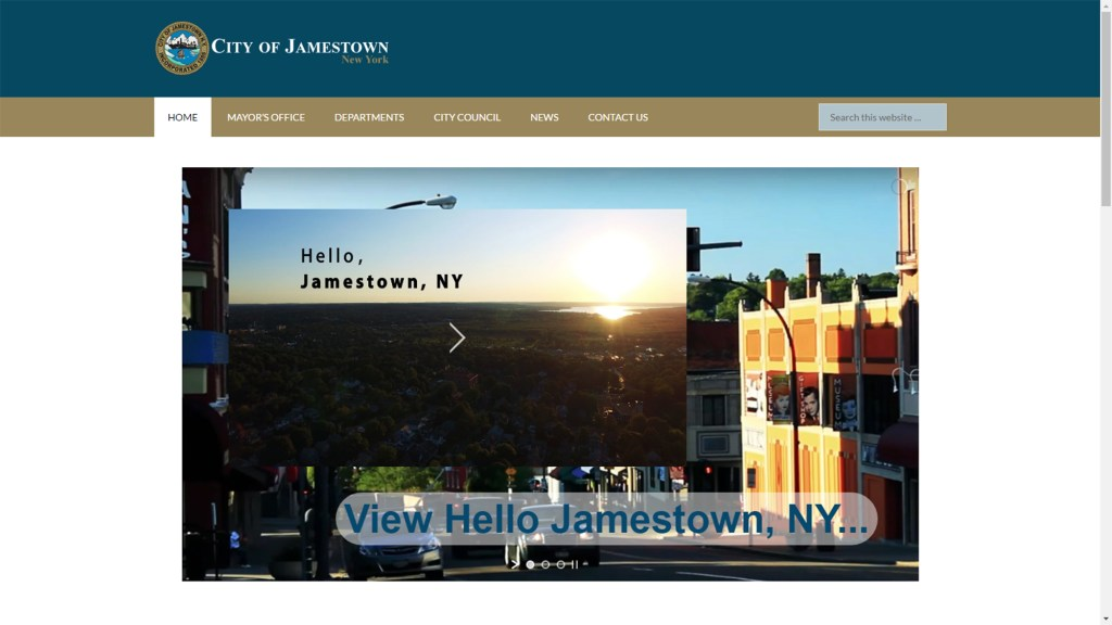 City of Jamestown NY City Launches New, More User-friendly Website