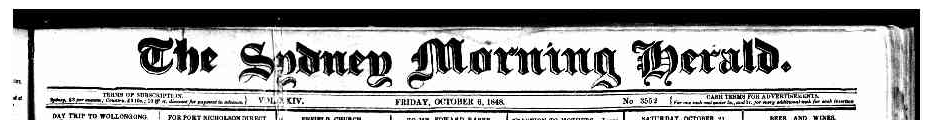 1848 – James and William Tyson claim Geramy