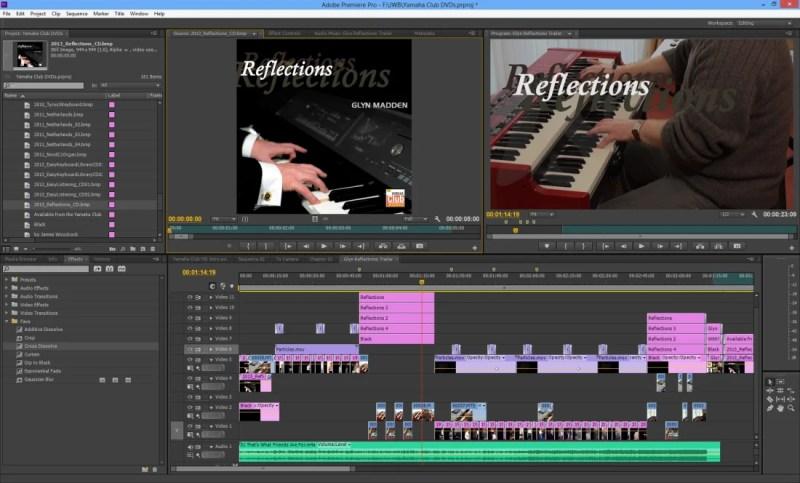 Editing the trailer in Adobe Premiere Pro CS6