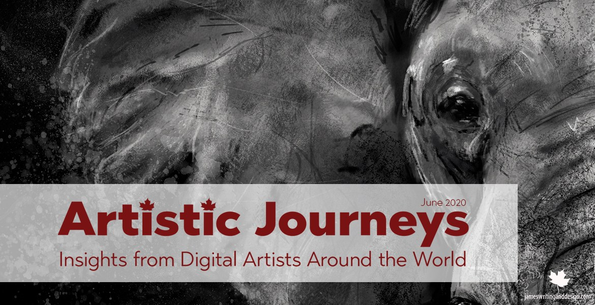 Artistic Journeys is an online publication that explores the lives of creative individuals as they share their experiences. June features L.A. James.