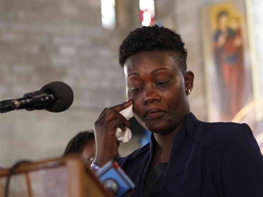 Msando's Widow, Eva, pleads for a job to educate her children