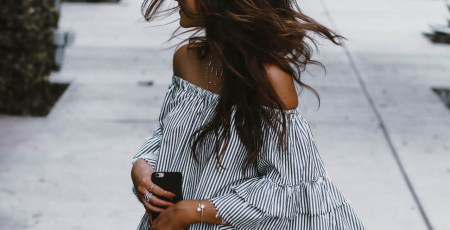 Striped ruffle dress blog post by Jami Alix, street style fashion blogger