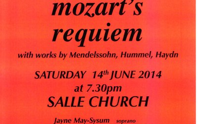 Mozart Requiem – 14th June