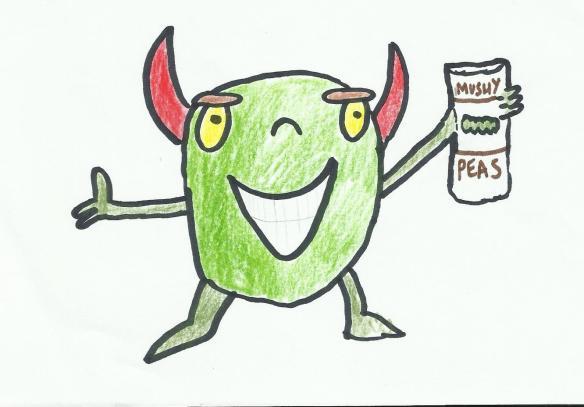 Alien eats peas