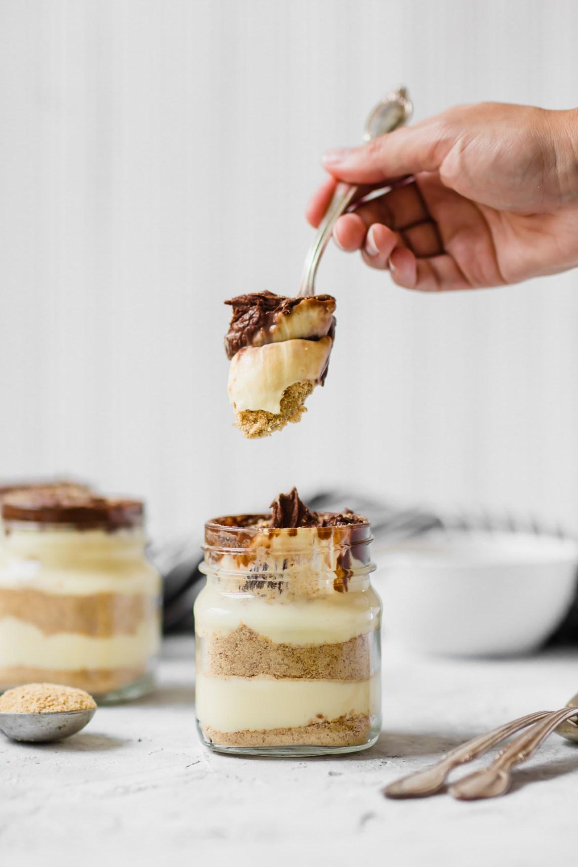 No Bake Eclair Cake In Mason Jars Jamie Kamber