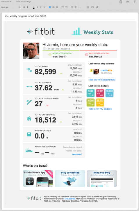 Fitbit Weekly Summary