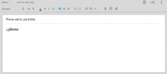 TextExpander New Note
