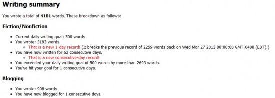 Writing Record