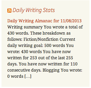 Daily Writing Stats