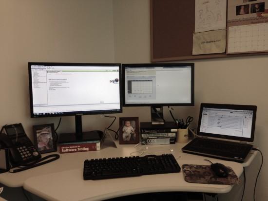 Three Monitors