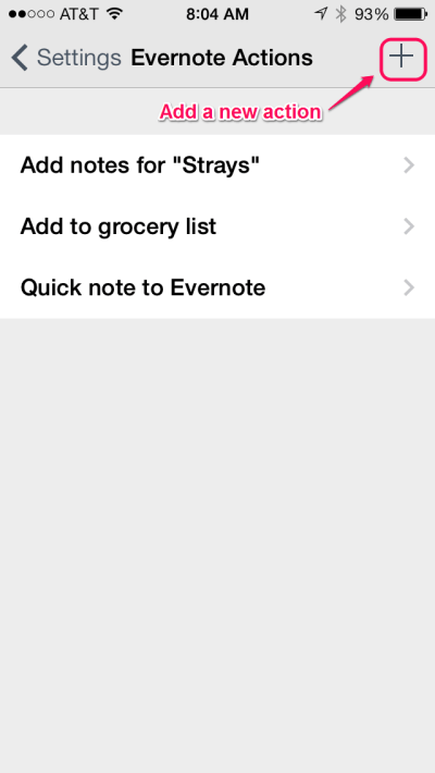 Drafts - Evernote Actions