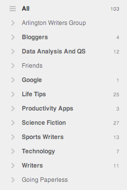 Feedly Categories
