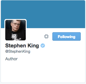 Stephen King on Twitter