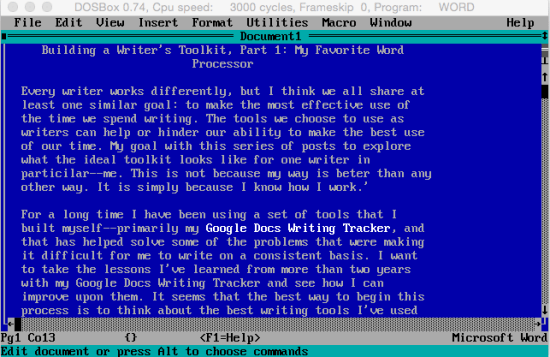 Word for DOS 5.5