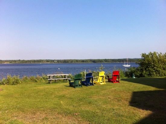 Adirondack chairs in Maine.