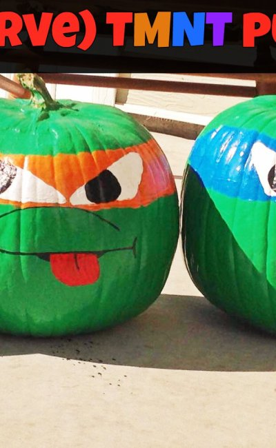 DIY (No Carve) TMNT Pumpkins