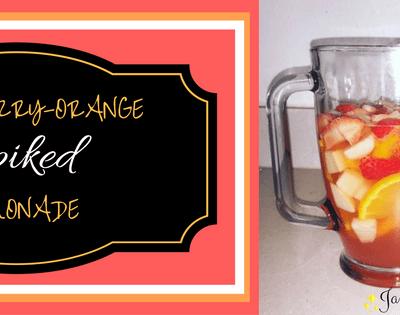 Pear-Berry-Orange Spiked Lemonade