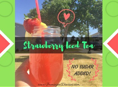 Strawberry Iced Tea (Sugar Free!)
