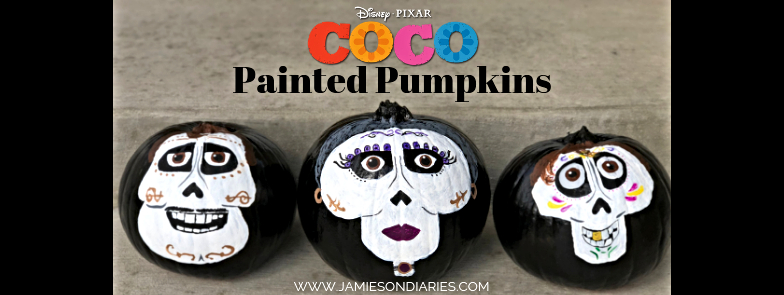 coco painted pumpkins