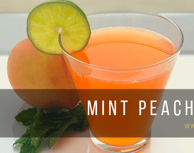 Mint Peach Spritzer