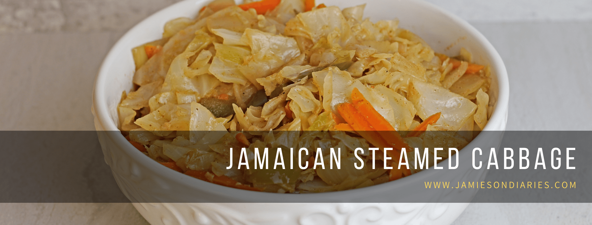 Jamaican steamed cabbage