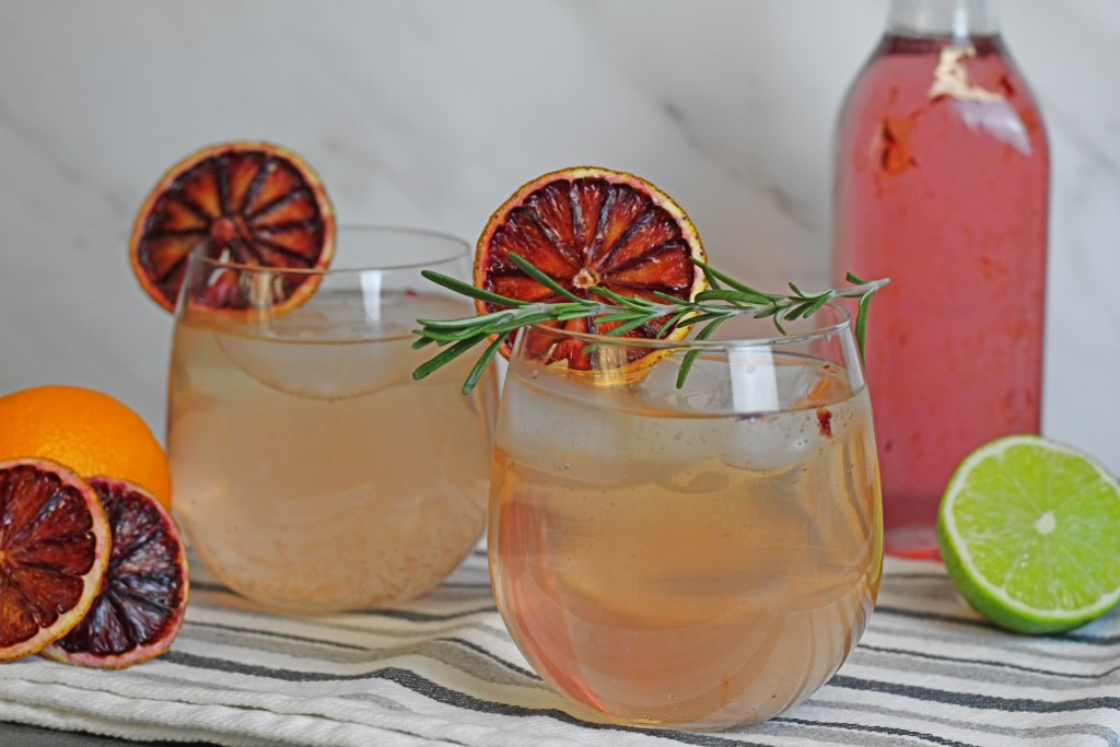 sparkling blood orange cocktail