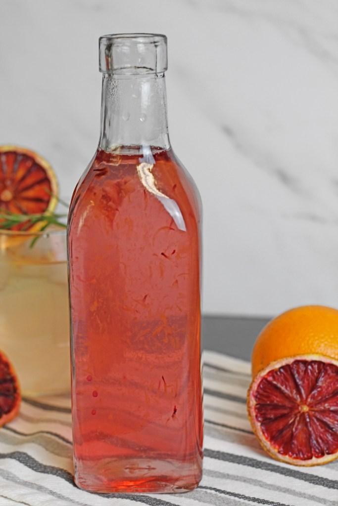 blood orange simple syrup