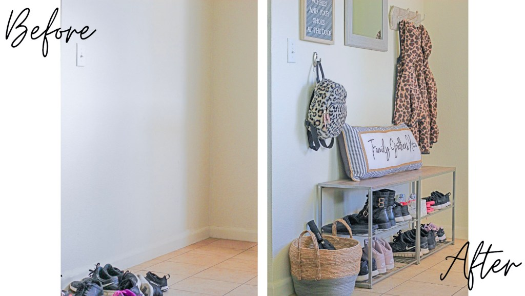 entry way decor and makeover