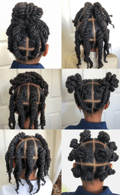 6 Natural Hairstyles for Kids