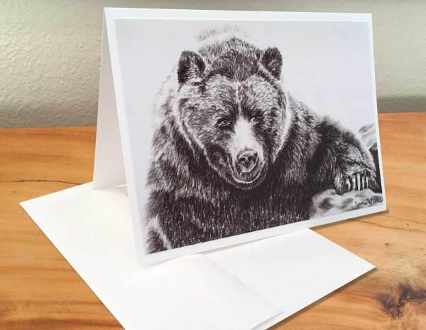 Fine Art Notecard: Black Bear - by Palmer Lake Artist Jamie Wilke