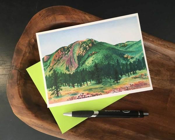 Fine Art Notecard: Mount Herman - by Palmer Lake Artist Jamie Wilke