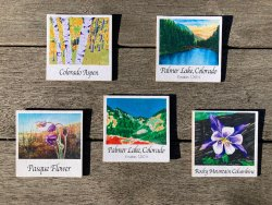 Colorado Art Wood Magnets by Jamie Wilke Palmer Lake