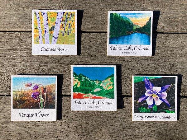Colorado Art Wood Magnets by Jamie Wilke Palmer Lake