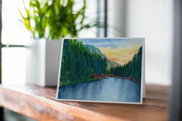 Fine Art Notecard: Palmer Lake Reservoir - by Jamie Wilke