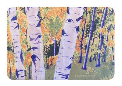 Buy a Wood Magnet Plant a Tree: Aspen by Jamie Wilke Fine Art