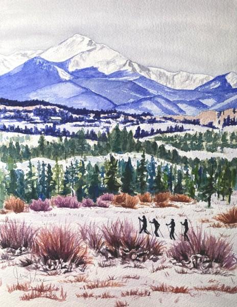 Colorado Grand - original watercolor commissioned art sold by Jamie Wilke