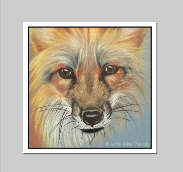 Red Fox Vinyl Sticker 3.75in x 3.75in - by Colorado Artist Jamie Wilke