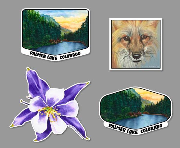 Colorado themed Vinyl Sticker by Artist Jamie Wilke