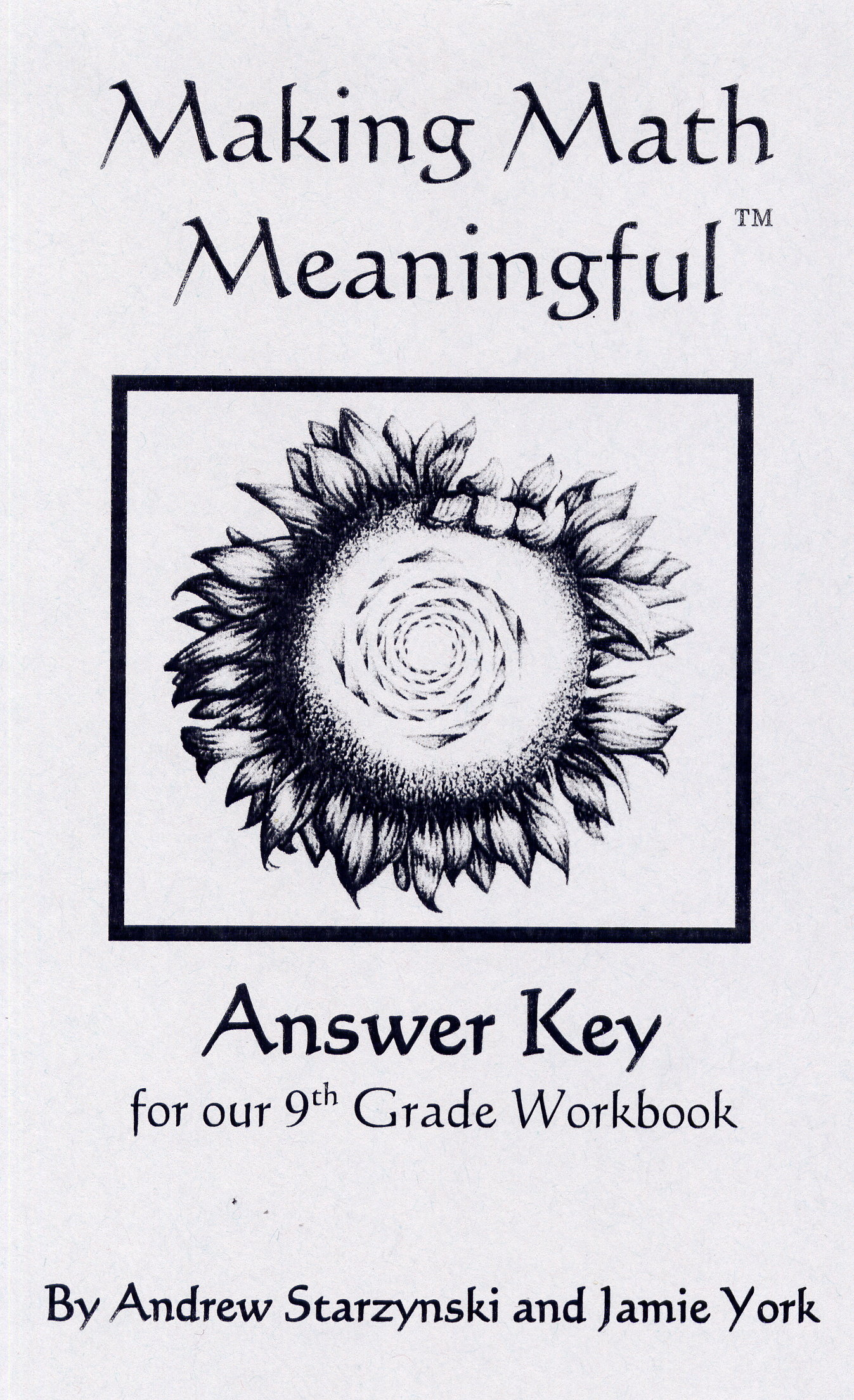 Answer Key For Our 9th Grade Workbook