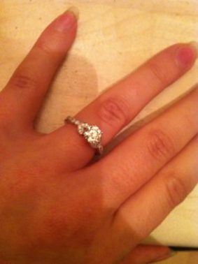 My stunning Etsy Engagement Ring all the way from LA