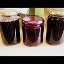 3 jars of homemade rum and plum jam