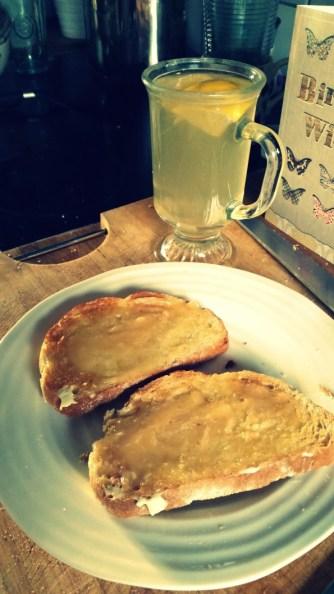 Fresh Tiger Bread with Honey and Fresh Lemon, Honey & Ginger