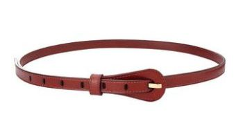 2nd Outfit: Red Leather Waist Belt (Yoins)