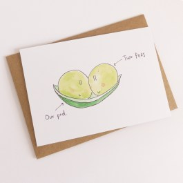 Two peas in a pod - A6 Print