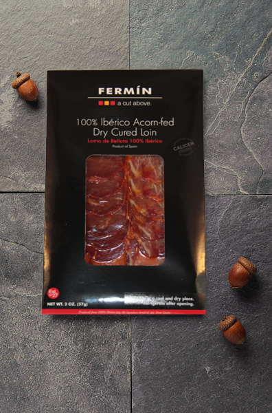 Sliced Iberico Acorn-Fed | Lomo de Bellota en lonchas | Cured Meat | Fermin Ibericos | Spanish Food